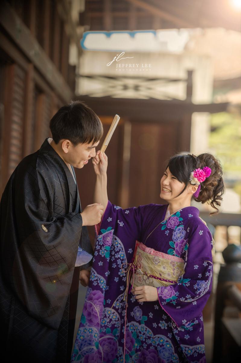 海外婚紗,情侶寫真,京都,櫻花,振袖,和服